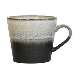 Narzuta z bawełny z brązowymi zigzag'ami (130x170)