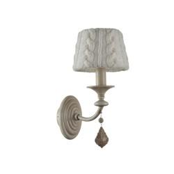 Lampa wisząca Mekong bambus 40x32cm/ abażur okrągły, biały/Naturalne drewno