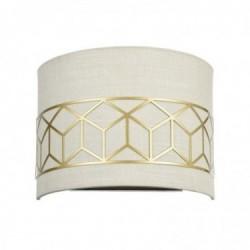 Wall lamp, Precise, Brass finish, l: 21 cm, dia: 8 cm, h: 21 cm, E14, 2.5 m