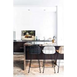 Turning Table, Black Ash/Brass