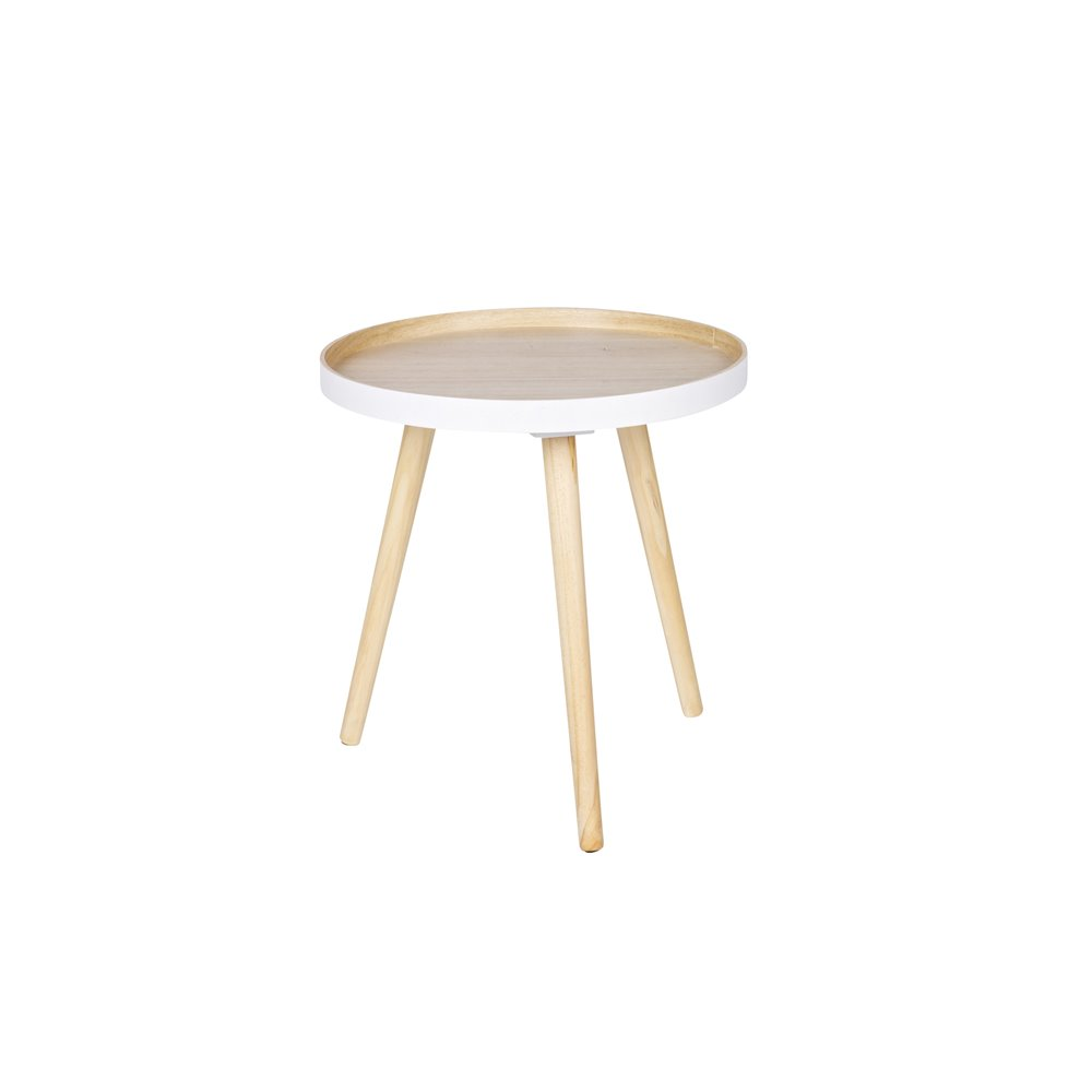 Stolik kawowy SASHA drewniany 40x40cm - Wo