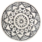 Okrag-y dywan bawe-niany szary wzory
