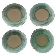 Talerz obiadowy ceramiczny zielony 70's -