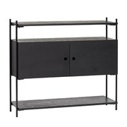 Console table, ash/metal, FSC, black